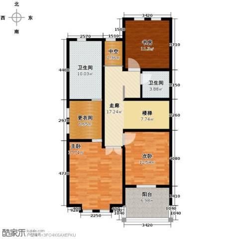 万通龙山逸墅2室1厅2卫0厨125.00㎡户型图