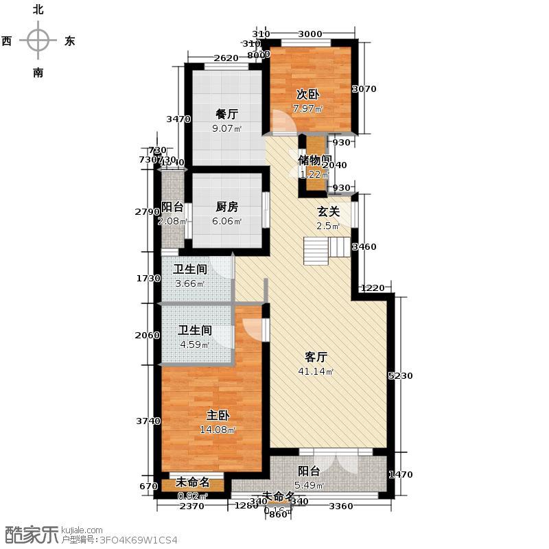 金地仰山163.00㎡H3一层户型4室2厅3卫