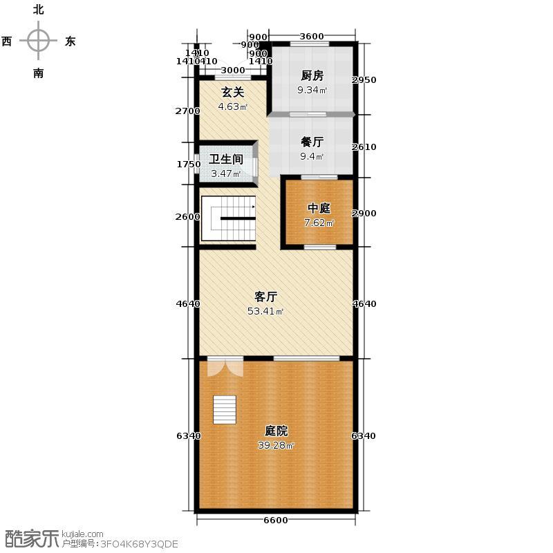 五矿榕园320.00㎡C2一层户型10室