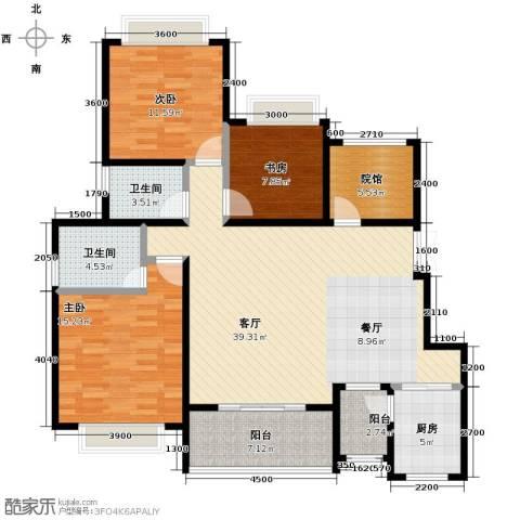 中国铁建山水时光3室2厅2卫0厨145.00㎡户型图