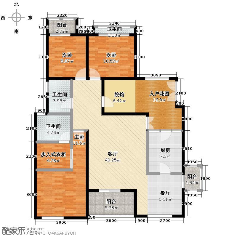 江润地中海岸123.85㎡洋房I户型10室