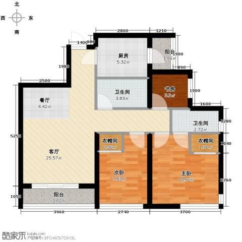 Park Tower 景杉2室2厅2卫0厨100.00㎡户型图