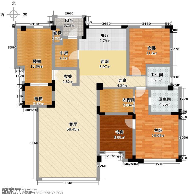 弘泽制造151.26㎡洋房F2-F户型10室