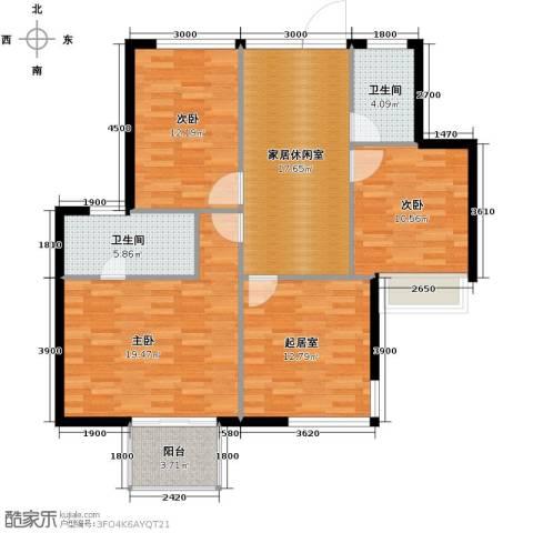长江楚韵4室2厅3卫0厨205.00㎡户型图