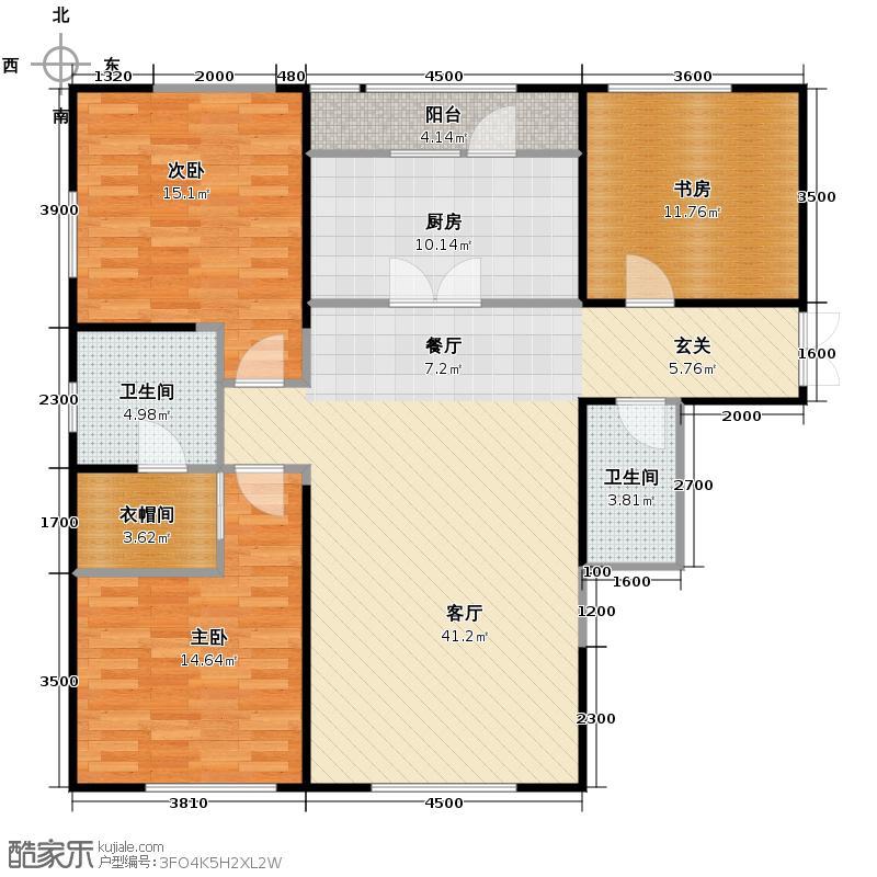 中粮大道158.00㎡G户型3室2厅2卫