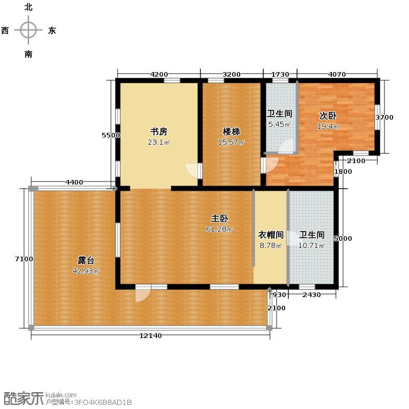 领秀・观山悦171.81㎡C二层户型10室
