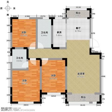 松江城洋房148.00㎡户型图
