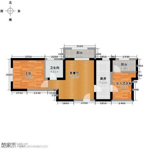 北宁湾1室1厅1卫0厨83.00㎡户型图