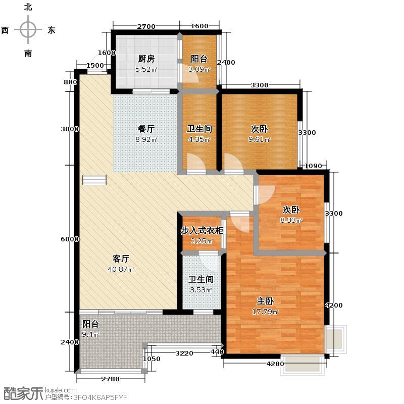 浩立碧海湾113.00㎡5号楼5-C、E户型3室2厅2卫