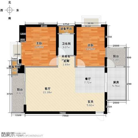 宫园壹号2室2厅1卫0厨100.00㎡户型图