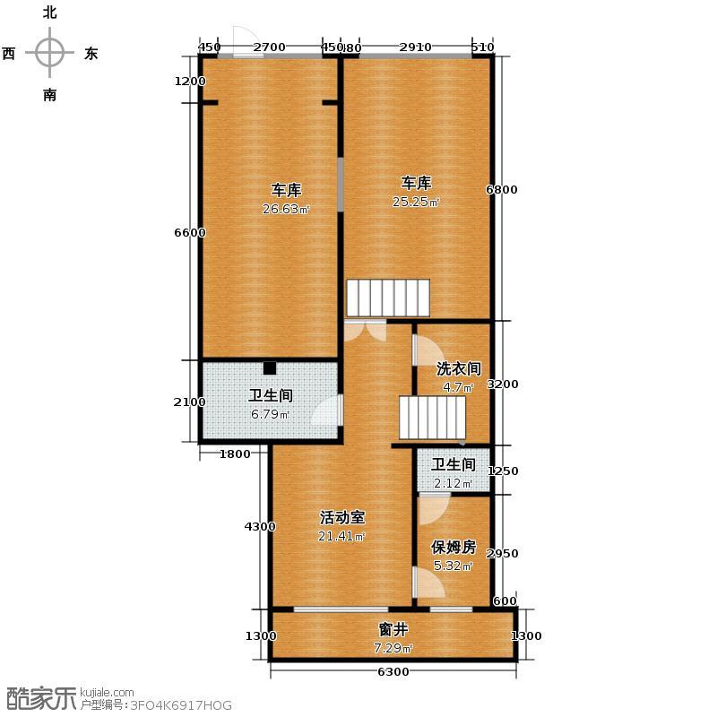 懿品府106.95㎡7号楼1205-G-01地下一层户型10室