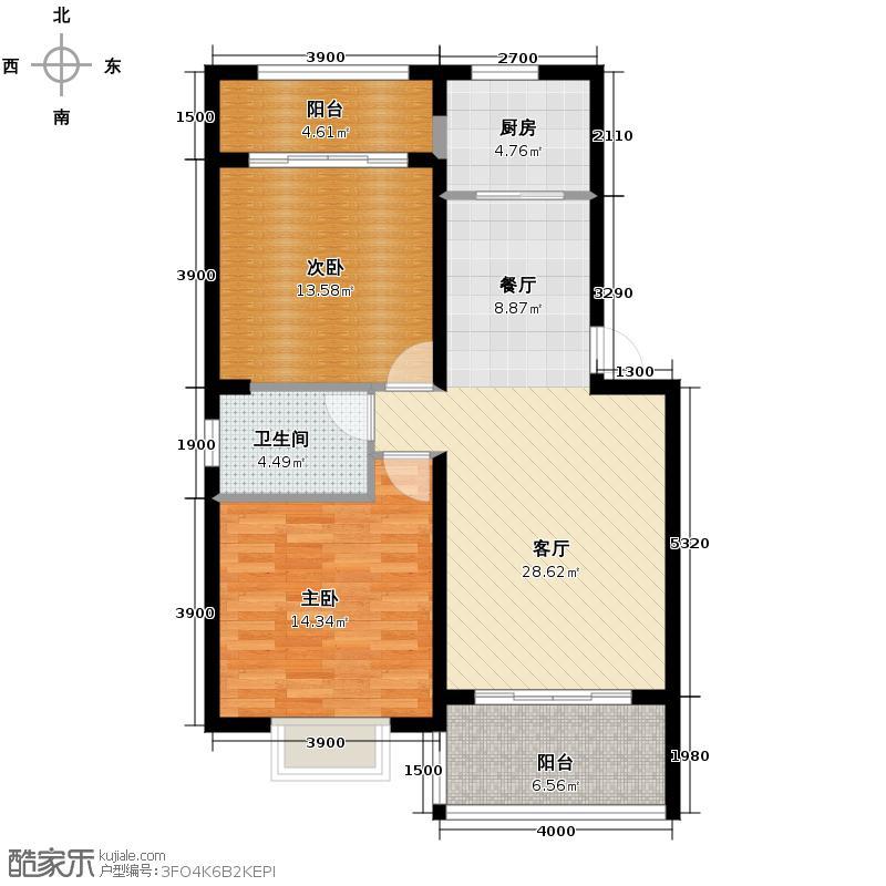 凤华名邸95.04㎡A户型10室