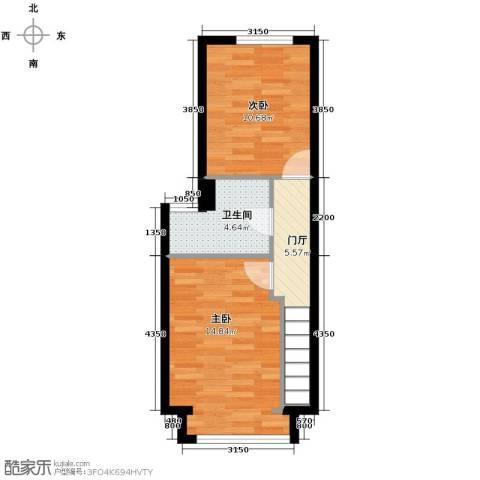 星河1852室0厅1卫0厨52.00㎡户型图
