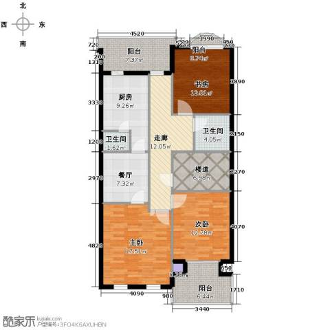 万通龙山逸墅2室1厅2卫0厨138.00㎡户型图