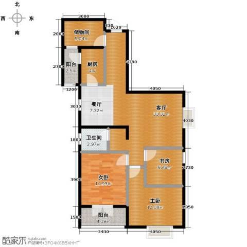 中御公馆3室2厅1卫0厨118.00㎡户型图