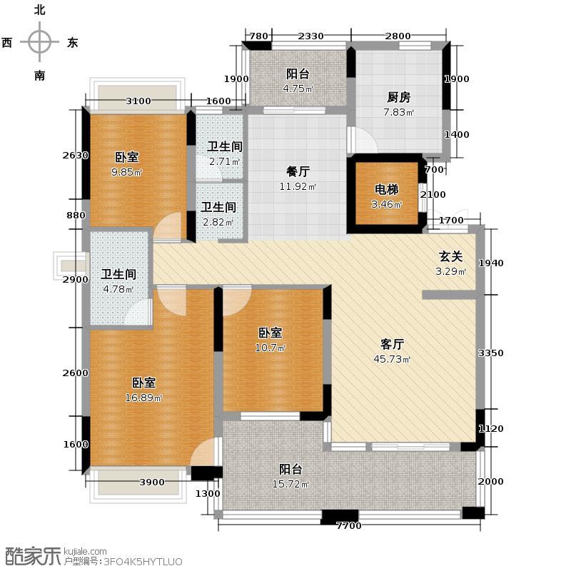 中城丽景香山139.25㎡户型10室