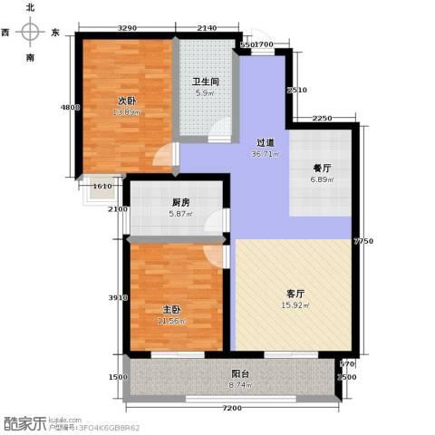 观澜天下2室2厅1卫0厨91.00㎡户型图