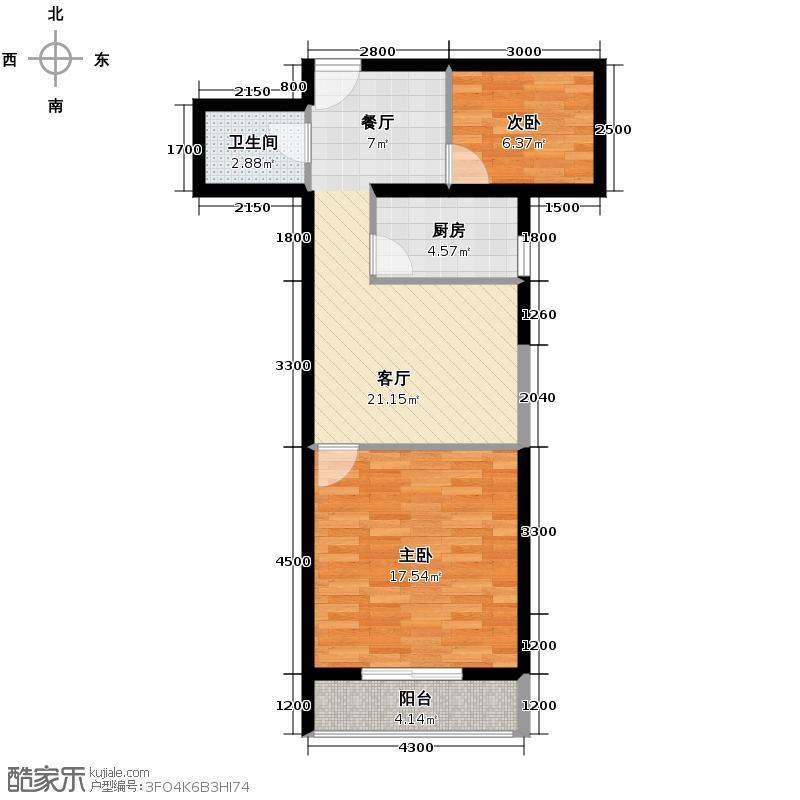 河北新人家64.59㎡B户型10室