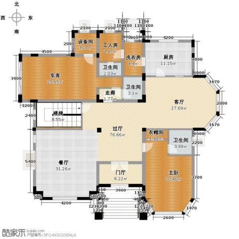 方迪山庄1室0厅3卫1厨240.00㎡户型图