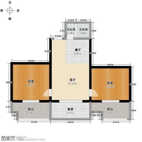 宝枫佳苑1厅2卫1厨103.00㎡户型图