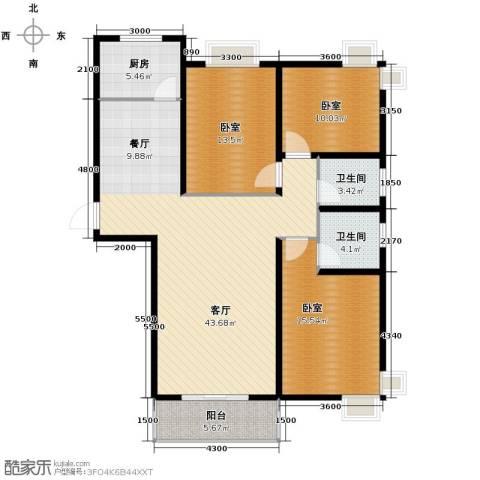 捷瑞新时代1厅2卫1厨149.00㎡户型图