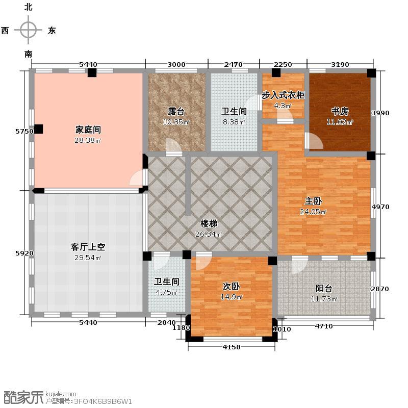 弘泽制造196.36㎡V3二层户型10室