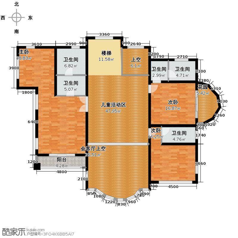 恒盛尚海湾滨海208.97㎡北区C6二层户型10室