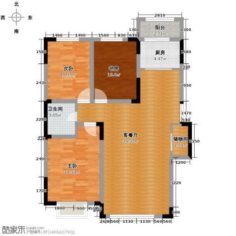 观澜湖别墅3室2厅1卫0厨120.00㎡户型图