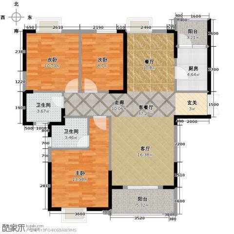 联投半岛3室2厅2卫0厨125.00㎡户型图