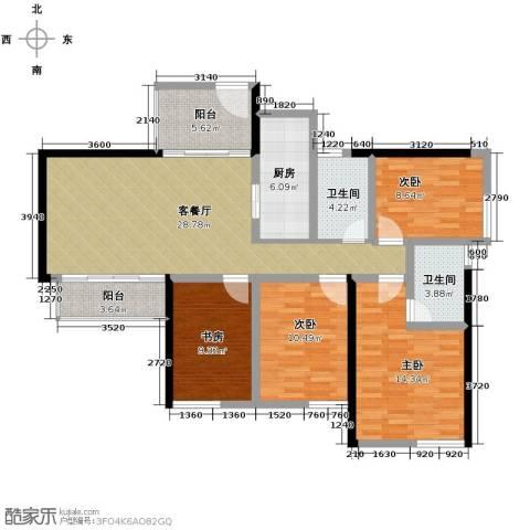长江楚韵3室2厅2卫0厨120.00㎡户型图