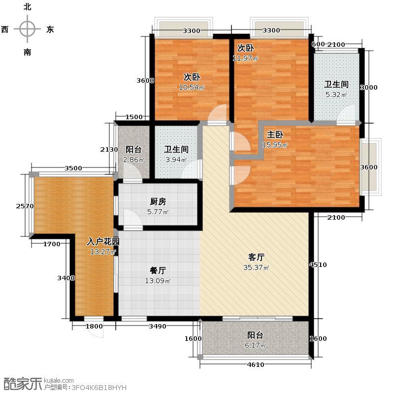 卓锦城(锦江)3.00㎡卓锦城B03-a型建筑面积约为户型3室1厅2卫1厨