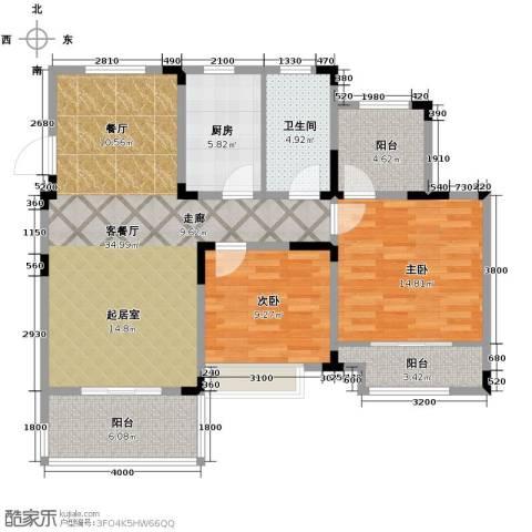 心泊馨城3室2厅2卫0厨102.00㎡户型图