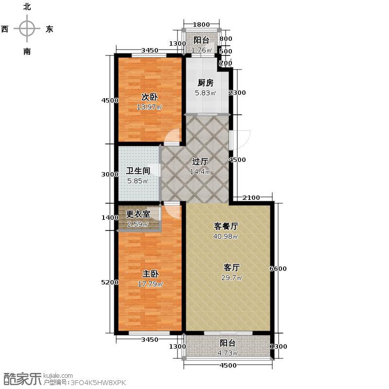 海天国际公寓104.12㎡户型10室
