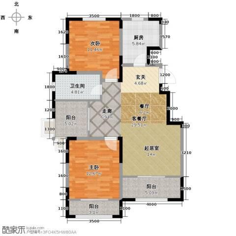 心泊馨城2室1厅1卫0厨106.00㎡户型图