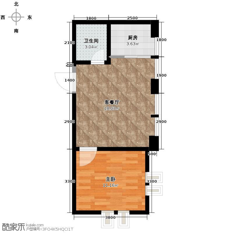 海河大道宽景公寓40.92㎡户型10室
