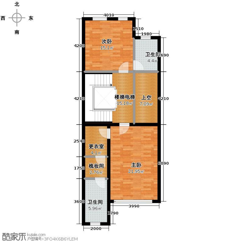 江南山水87.45㎡T3二层户型10室