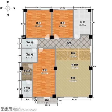 海河新天法桐墅3室2厅2卫0厨232.00㎡户型图