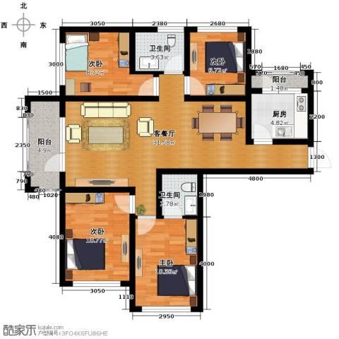 平谷蓝熙庭4室2厅2卫0厨114.00㎡户型图