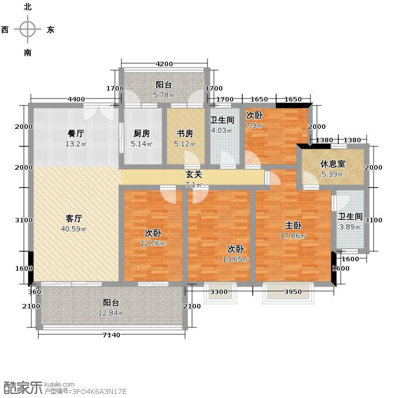 富力金港城170.00㎡c4-c8栋01单元户型10室