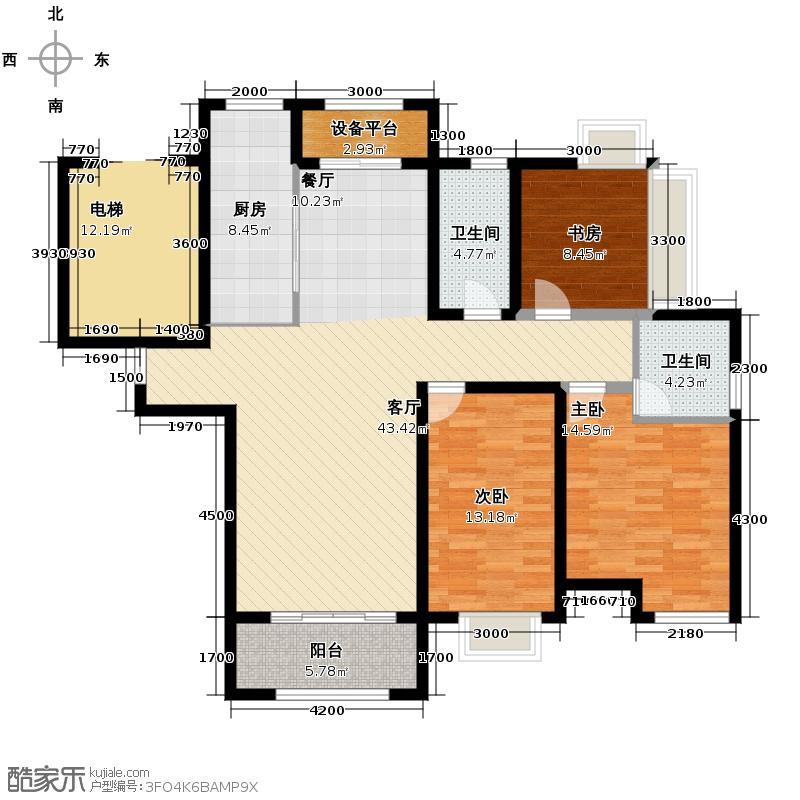 保利玫瑰湾141.00㎡C1户型3室2厅2卫