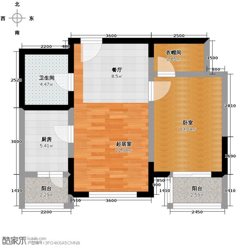 金旺水岸62.14㎡单体平面图户型10室