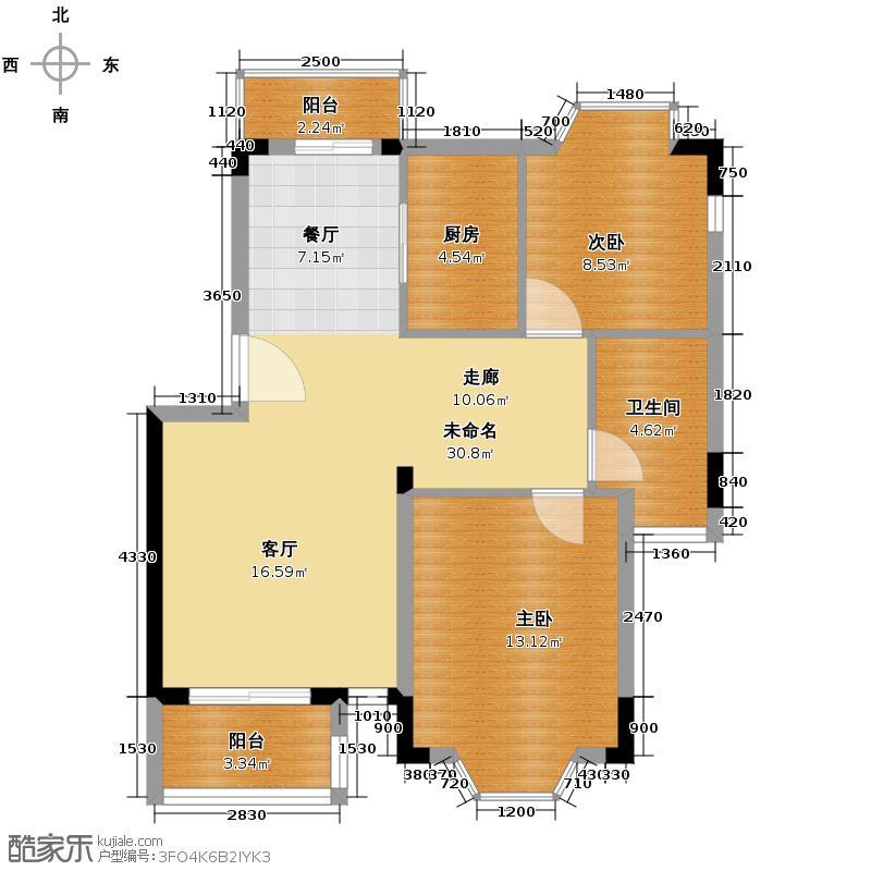 中兴和园75.69㎡户型10室