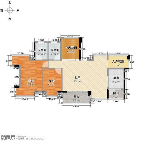 永江国际公馆117.00㎡户型图