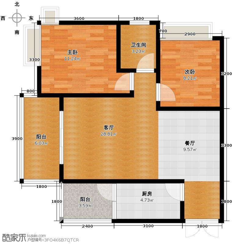 江润地中海岸69.17㎡高层A户型10室