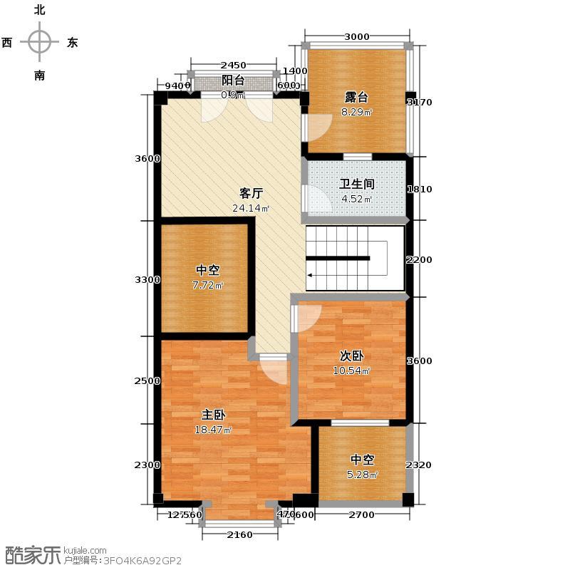 万业巴厘岛209.70㎡A3联排别墅户型10室