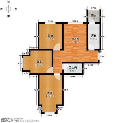 泰达星海湾3室2厅1卫0厨96.00㎡户型图