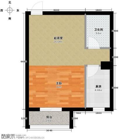 泰达时尚旺角1室1厅1卫0厨56.00㎡户型图