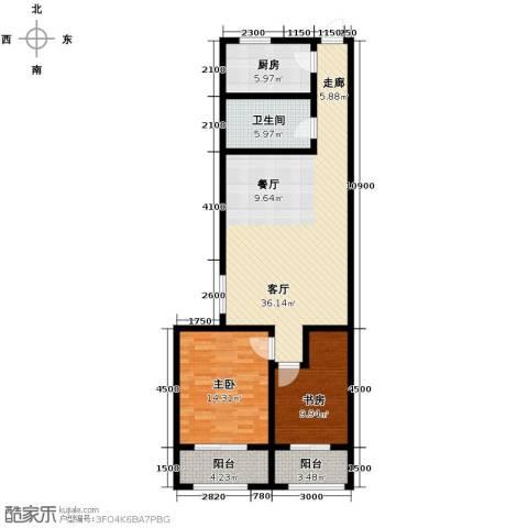海尚都2室2厅1卫0厨123.00㎡户型图