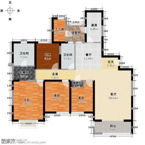 仁恒河滨花园4室2厅2卫0厨200.00㎡户型图