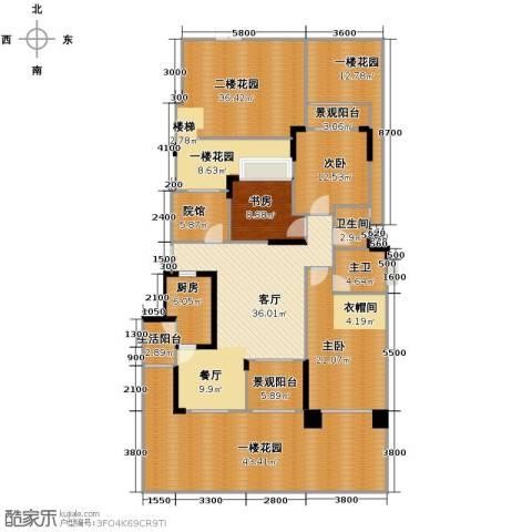 中国铁建山水时光3室2厅2卫0厨276.00㎡户型图